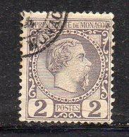 Y626 - MONACO 1885 , Unificato N. 2  Usato - Monaco