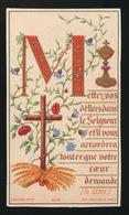 PLECHTIGE EERSTE COMMUNIE  HYACINTE BÖSS  3 AVRIL 1884  COLLEGE SAINTE BARBE   2 SCANS - Images Religieuses
