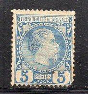 Y643 - MONACO 1885 , Unificato N. 3  Nuovo Senza Gomma. Un Dente Corto - Neufs