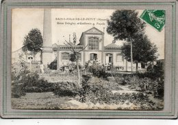 CPA - SAINT-HILAIRE-le-PETIT (51) - Aspect De La Façade De L'Usine Delagloy Et Guillemin Et Le Personnel En 1914 - Other Municipalities