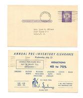 No Date Slug Machine Cancel Wilmington DE UX46 Advertising Postal Card Bird Speakman - Errors, Freaks & Oddities (EFOs)