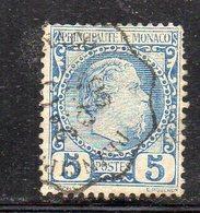 Y784 - MONACO 1885 , Unificato N. 3 Usato - Monaco