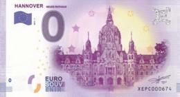Allemagne - Billet Touristique / Souvenir 0 €uro - 2017 /  HANNOVER . - EURO