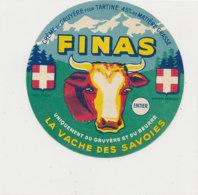 W 538 / ETIQUETTE  FROMAGE   CREME DE GRUYERE FINAS   LA VACHE DES SAVOIES - Käse