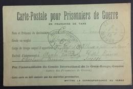 Carte De Franchise Militaire Pour Prisonnier De Guerre Internement En SUISSE Aeschi Bei Spiez Hôtel Bären Janvier 1917 - Oorlog 1914-18