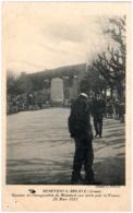 23 BENEVENT-L'ABBAYE - Souvenir De L'inauguration Du Monument Aux Morts Pour La France - 28 Mars 1921 - Benevent L'Abbaye