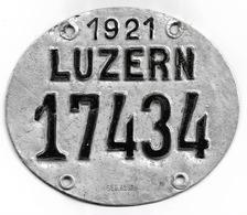 Velonummer Luzern LU 21 - Plaques D'immatriculation