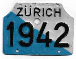 Velonummer Zürich ZH 48 - Plaques D'immatriculation