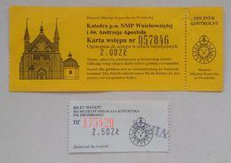 Poland Pologne Polen Frombork Frauenburg Copernicus Museum Musée Entry Ticket Billet D'entrée Eintrittskarte 90's - Tickets D'entrée