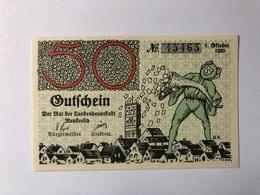 Allemagne Notgeld Neustrelitz 50 Pfennig - [ 3] 1918-1933: Weimarrepubliek