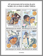 NIGER 2019 MNH Mother Teresa Nobel Peace Prize Winner Mutter Teresa Mere Teresa M/S - OFFICIAL ISSUE - DH1949 - Mère Teresa