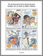 NIGER 2019 MNH Mother Teresa Nobel Peace Prize Winner Mutter Teresa Mere Teresa M/S - IMPERFORATED - DH1949 - Mère Teresa