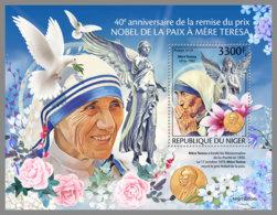 NIGER 2019 MNH Mother Teresa Nobel Peace Prize Winner Mutter Teresa Mere Teresa S/S - IMPERFORATED - DH1949 - Mère Teresa