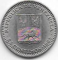 *Venezuela 25 Centimos 1965  Km 40  Unc - Venezuela