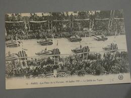 FETES DE LA VICTOIRE. VICTORY FETE. 14/07/1919. ED. L'ABEILLE N°56. LE DEFILE DES TANKS. - Francia