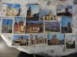 LOT   DE   405 CARTES  POSTALES   D EGLISES   DE  FRANCE - Cartes Postales