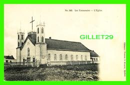 LAC ESCOUMAINS, QUÉBEC - L'ÉGLISE - CIRCULÉE EN 1935 - DOS 3/4 - - Quebec