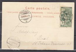 N°86 Sur Lettre De Sissach A Basel - 1882-1906 Armoiries, Helvetia Debout & UPU