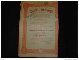 """Obligation""""Tuileries Nationales Belges"""" Bierghes Lez Hal  1907 Reste Des Coupons - Industrie"""