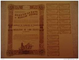 """""""Charbonnages De Gosson Lahaye Et Horloz""""  Tilleur ( Liège ) 1950 Obligation De 1000 Francs (charbon,mine) - Mines"""