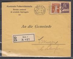 N°129+141 Sur Lettre De Bern 1 Briefexpedition A Dittingen Laufen Reccomandée - Schweiz