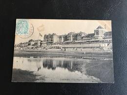 CABOURG La Plage Et Le Grand Hotel - 190? Timbrée - Cabourg