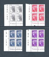 2011  - BLOC DE 4 TIMBRES NEUFS  N° 4565 A 4568 - MARIANNE DE BEAUJARD - - 2010-....
