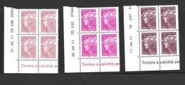 2011  - BLOC DE 4 TIMBRES NEUFS  N° 4569 A 4571 - MARIANNE DE BEAUJARD - 50 G  / 100 G ET 250 G - 2010-....