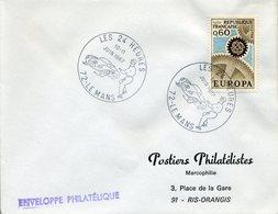 LE MANS 1967 LES 24 HEURES Course Automobile Sport Départ Voiture Endurance - Marcophilie (Lettres)