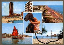 °°° Cartolina - Jesolo Lido Vedute Viaggiata °°° - Venezia (Venice)