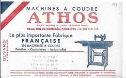 Buvard Ancien Machines à Coudre ATHOS - Buvards, Protège-cahiers Illustrés