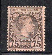 Y915 - MONACO 1885 , Unificato N. 8  Linguellato * . - Monaco