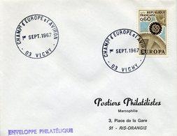 VICHY 1967 CHAMPIONNAT D'EUROPE A L'AVIRON Sport Nautique Rame - Marcophilie (Lettres)