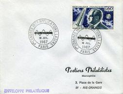 PARIS 1967 CONGRES INTERNATIONAL APPLICATIONS LASER - Poststempel (Briefe)