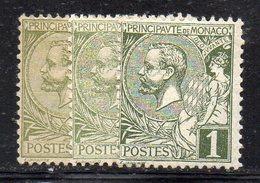 Y935 - MONACO 1891 , Unificato N. 11 Linguellato : 3 Nuance  * - Neufs