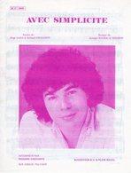 PARTITION RICHARD COCCIANTE - AVEC SIMPLICITE - 1981 - EXC ETAT PROCHE DU NEUF - - Musique & Instruments