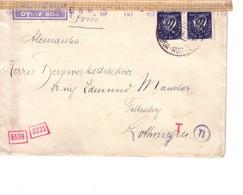 Lettre De Lisbonne Pour Faulquemont - Falkenberg - - Postmark Collection