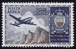 San Marino, 1954, Airmail, 1000 Lira, Michel Nr. 512, MNH, Very Good Quality - Ungebraucht