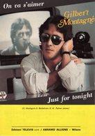 PARTITION GILBERT MONTAGNE / BARBELIVIEN - ON VA S'AIMER - 1984 - EXC ETAT COMME NEUF - - Autres