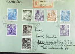 """DDR: E-Fern-Brief Mit 20 Pf """"5-Jahrplan"""" Odr. In MiF Mit Bdr. U. Aufdr. Mke Aus Halle (00291) Vom 14.3.58 Knr: 270, Ua. - [6] República Democrática"""