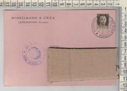 STORIA POSTALE - Casteldelpiano Groseto Winkelmann & Crisa  1940 - 1900-44 Vittorio Emanuele III