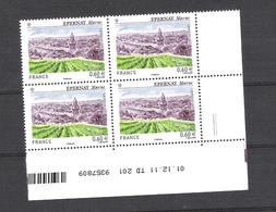 2012  - BLOC DE 4 TIMBRES NEUFS  N° 4645 - EPERNAY  MARNE - 2010-....