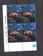 2012  - BLOC DE 4 TIMBRES NEUFS  N° 4646 - FAUNE MARINE  /  POISSONS TROPICAUX - 2010-....
