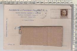 STORIA POSTALE - GIOVINAZZO BARI ACCIAIERIE E FERRIERE PUGLIESI  - VIAGGIATA  1936 - Storia Postale