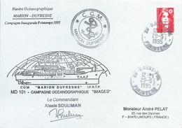 "Lettre Campagne Océanographique ""Images"" Du Marion Dufresne - Cachet Manuel Brest Ppal - 29/05/1995 - Poolshepen & Ijsbrekers"