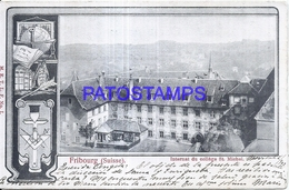 126453 SWITZERLAND FRIBOURG SCHOOL ST MICHEL CIRCULATED TO ITALY POSTAL POSTCARD - Suisse