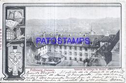126453 SWITZERLAND FRIBOURG SCHOOL ST MICHEL CIRCULATED TO ITALY POSTAL POSTCARD - Switzerland