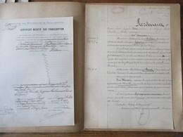 19 MAI 1910 VENTE PAR MONSIEUR MEDARD HUBEAU ET Mme AMELIE LEFORESTIER AU MONT D'ORIGNY A M.PAUL PONCET D'UNE MAISON A T - Manuscritos