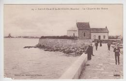 CPA Saint-Vaast-la-Hougue - La Chapelle Des Marins (avec Animation) - Saint Vaast La Hougue