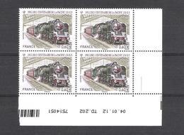 2012  - BLOC DE 4 TIMBRES NEUFS  N° 4655 - CENTENAIRE DE LA PACIFIC 231K8  - Locomotive A Vapeur - 2010-....